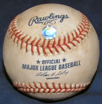 Game Used MLB Baseball Milwaukee Brewers at Houston Astros (2003) (9/28/03)