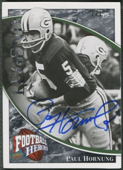 2009 Upper Deck Heroes #205 Paul Hornung Black Auto #1/1