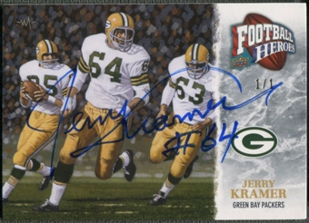 2009 Upper Deck Heroes #423 Jerry Kramer Black Auto #1/1