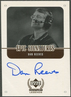 1999 Upper Deck Century Legends #DR Dan Reeves Epic Signatures Auto