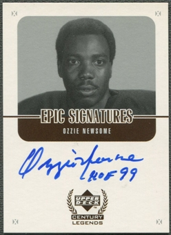 1999 Upper Deck Century Legends #ON Ozzie Newsome Epic Signatures Auto