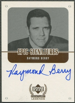 1999 Upper Deck Century Legends #RB Raymond Berry Epic Signatures Auto