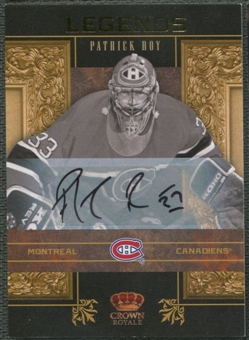 2010/11 Crown Royale #6 Patrick Roy Legends Signatures Auto #11/25