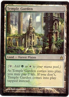 Magic the Gathering Ravnica: City of Guilds Single Temple Garden FOIL NEAR MINT