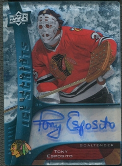 2009/10 Upper Deck Trilogy #ISTE Tony Esposito Ice Scripts Auto SP