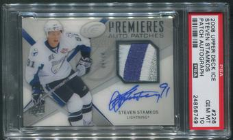 2008/09 Upper Deck Ice #226 Steven Stamkos Rookie Patch Auto #09/10 PSA 10 (GEM MINT)
