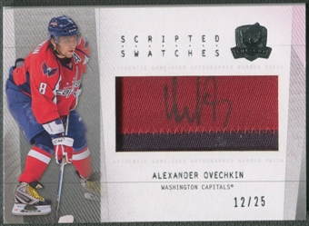 2009/10 The Cup #SSAO Alexander Ovechkin Scripted Swatches Patch Auto #12/25