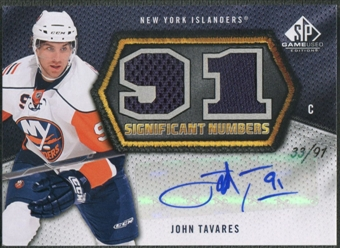 2010/11 SP Game Used #SNTA John Tavares SIGnificant Numbers Jersey Auto #33/91