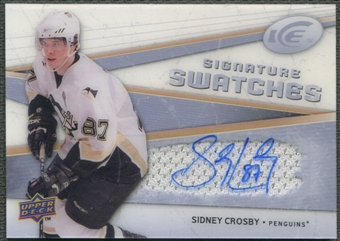 2008/09 Upper Deck Ice #SSJSC Sidney Crosby Signature Swatches Jersey Auto