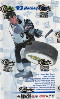 1993/94 Classic Hockey Hobby Box