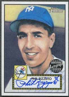2001 Topps Heritage #THAPFR Phil Rizzuto Auto