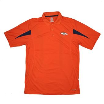 Denver Broncos Majestic Orange Field Classic Cool Base Performance Polo (Adult L)