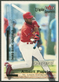 2001 Fleer Triple Crown #309 Albert Pujols Rookie #2148/2999