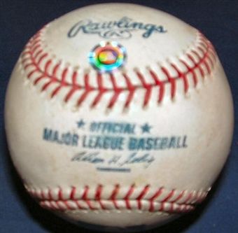 Game Used MLB Baseball St. Louis Cardinals at Houston Astros (2002) (5/27/02)