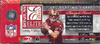 2002 Donruss Elite Football Hobby Box