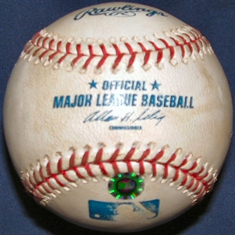 Game Used MLB Baseball New York Mets at Florida Marlins (6/2/01)