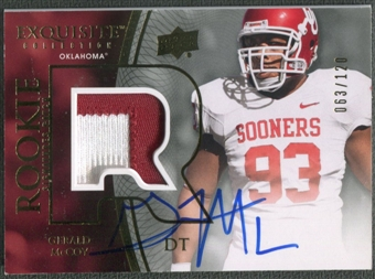 2010 Exquisite Collection #119 Gerald McCoy Rookie Patch Auto #063/120