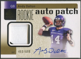 2011 SP Authentic #232 Andy Dalton Rookie Patch Auto #463/699