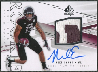 2014 SP Authentic #230 Mike Evans Rookie Patch Auto #324/350