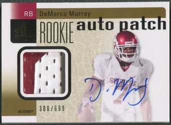 2011 SP Authentic #216 DeMarco Murray Rookie Patch Auto #300/699