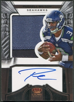 2012 Crown Royale #280 Russell Wilson Rookie Patch Auto #110/349
