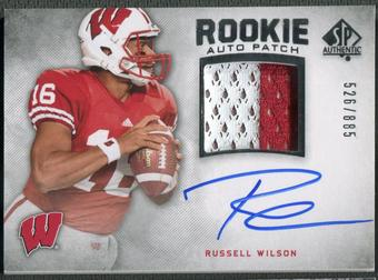 2012 SP Authentic #272 Russell Wilson Rookie Patch Auto #526/885
