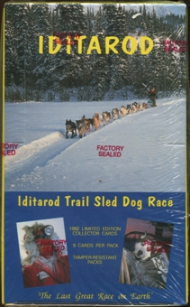 Iditarod Trail Sled Dog Race Collector Cards Box (1992 MotorArt)