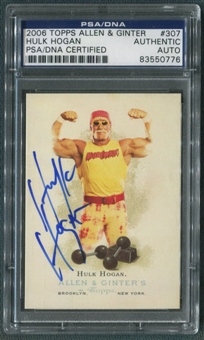2006 Topps Allen and Ginter #307 Hulk Hogan Auto PSA DNA