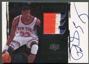 2003/04 Exquisite Collection #PE Patrick Ewing Patch Auto #004/100