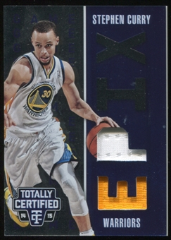 2014-15 Totally Certified EPIX Game Memorabilia Blue #8 Stephen Curry Serial #144/149