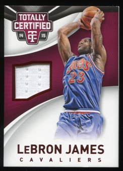 2014-15 Totally Certified Jerseys Red #53 LeBron James Serial # 241/299