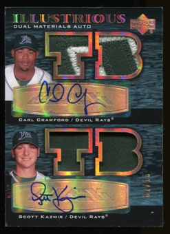 2007 UD Black Illustrious Dual Patch Auto Carl Crawford/Scott Kazmir Serial #2/15