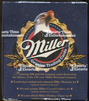 Miller Genuine Trading Cards Box (1995 Sports Time Entertainment)