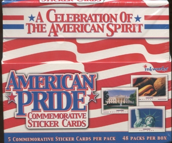 American Pride Commemorative Sticker Cards Box (Inkworks)