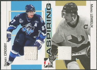 2005/06 ITG Heroes and Prospects #ASP19 Mario Lemieux & Sidney Crosby Aspiring Jersey /50