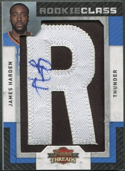 "2009/10 Panini Threads #103 James Harden Rookie Letter ""R"" Patch Auto #573/660"