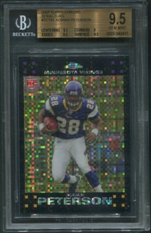 2007 Topps Chrome #TC181 Adrian Peterson Rookie Xfractor BGS 9.5 (GEM MINT)