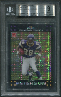 2007 Topps Chrome #TC181 Adrian Peterson Rookie Xfractor BGS 9 (MINT)