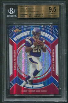 2007 Finest #AP Adrian Peterson Rookie Moments Refractor BGS 9.5 (GEM MINT)