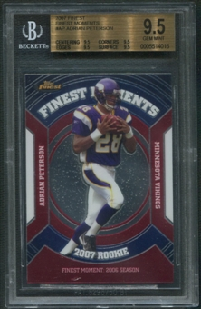 2007 Finest #AP Adrian Peterson Rookie Moments BGS 9.5 (GEM MINT)