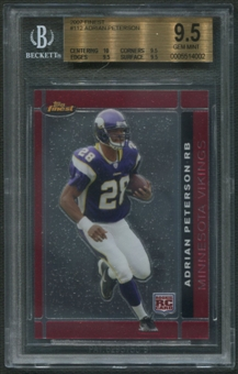 2007 Finest #112 Adrian Peterson Rookie BGS 9.5 (GEM MINT)
