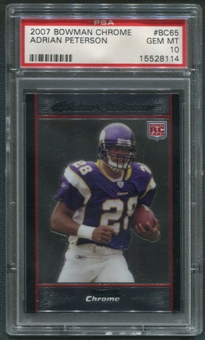 2007 Bowman Chrome #BC65 Adrian Peterson Rookie PSA 10 (GEM MINT)