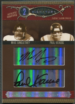 2006 Playoff National Treasures #12 Mike Singletary & Paul Krause Signature Combos Auto #24/25