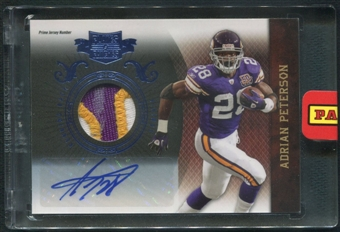 2010 Panini Plates and Patches #52 Adrian Peterson Patch Auto #3/5