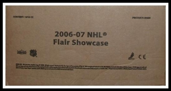 2006/07 Fleer Flair Showcase Hockey Hobby 16-Box Case (UD)