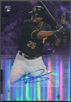 2014 Bowman Sterling #BSRAGP Gregory Polanco Rookie Purple Refractor Auto #24/50