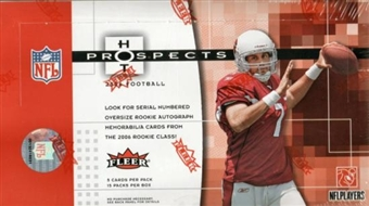 2006 Fleer Hot Prospects Football Hobby Box