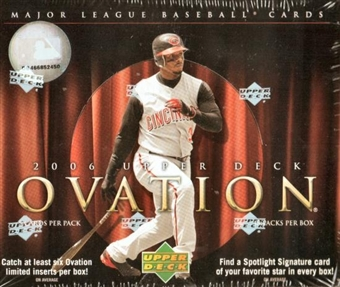 2006 Upper Deck Ovation Baseball Hobby Box