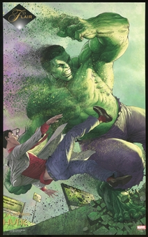 2015 Fleer Retro Marvel 1994 Flair Prints #2 Hulk