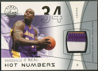 2003/04 Flair Final Edition #SON Shaquille O'Neal Hot Numbers Gold Patch #16/34